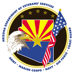 Arizona Department of<br>Veterans' Services Logo